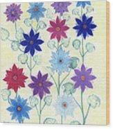 Sister Bloom Wood Print
