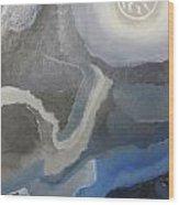 Sister Moon Wood Print by Sarah E Kohara