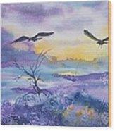Sister Ravens Wood Print