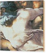 Sistine Chapel Ceiling Creation Of Adam Wood Print by Michelangelo Buonarroti