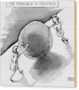 The Marriage Of Sisyphus Wood Print