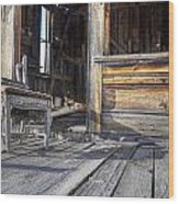 Sit A Spell Wood Print