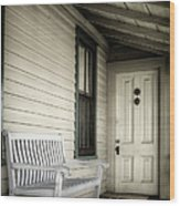 Sit Awhile Wood Print