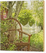 Sit For A While Wood Print