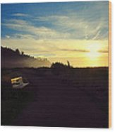 sit With Me And Watch The Sunset Wood Print