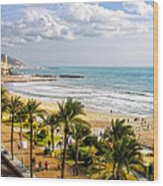 Sitges Spain On The Mediterranean Coast Wood Print