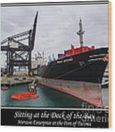 Sitting At The Dock Of The Bay Wood Print