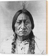 Sitting Bull Wood Print by Bill Cannon