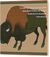 Sitting Bull Buffalo Wood Print