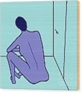 Sitting Wood Print by Meenal C