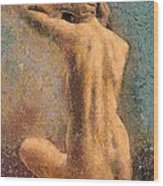 Sitting Nude 3 Wood Print