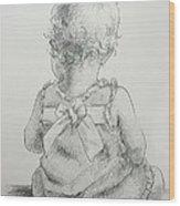 Sitting Pretty Wood Print by Kelley Smith
