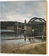 Siuslaw River Bridge Wood Print
