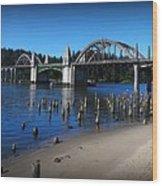 Siuslaw River Bridge Oregon Wood Print