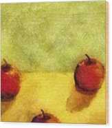 Six Apples Wood Print