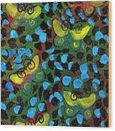 Six Butterflys Wood Print