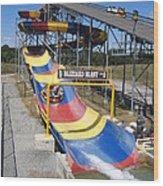 Six Flags America - Blizzard Blast - 12121 Wood Print