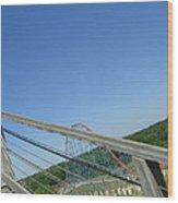 Six Flags America - Roar Roller Coaster - 12122 Wood Print