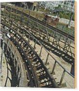 Six Flags America - Roar Roller Coaster - 12124 Wood Print