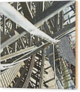 Six Flags America - Roar Roller Coaster - 12127 Wood Print