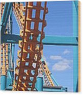 Six Flags America - Two-face Roller Coaster - 12121 Wood Print