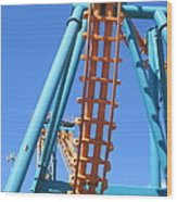 Six Flags America - Two-face Roller Coaster - 12122 Wood Print