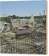 Six Flags America - Wild One Roller Coaster - 121210 Wood Print