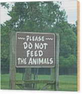 Six Flags Great Adventure - Animal Park - 121218 Wood Print