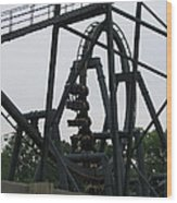 Six Flags Great Adventure - Medusa Roller Coaster - 12124 Wood Print by DC Photographer