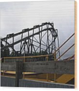 Six Flags Great Adventure - Nitro Roller Coaster - 12122 Wood Print