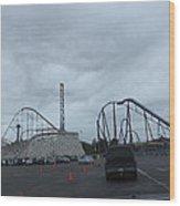 Six Flags Magic Mountain - 12121 Wood Print