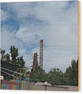 Six Flags Magic Mountain - 12122 Wood Print