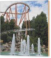 Six Flags Magic Mountain - 12124 Wood Print