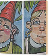 Six Gnomes Horizontal Wood Print