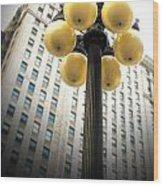Six Light Lamp Post Wood Print
