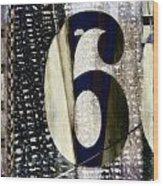 Six On The Line Wood Print by Carol Leigh