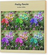 Six Pretty Pansies Wood Print