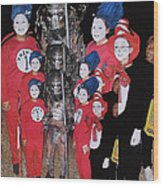 Six Things Halloween Party Collage Casa Grande Arizona 2005-2012 Wood Print