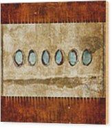 Six Turquoise Moons Wood Print