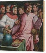 Six Tuscan Poets Wood Print by Giorgio Vasari