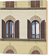 Six Windows Of Florence Wood Print