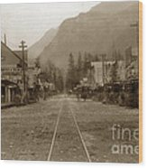 Skagway Alaska H. C. Bailey Photographer June 15 1898 Wood Print