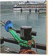 Skagway Dock Wood Print