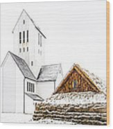Skalholt Church Wood Print