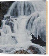 Skalkaho Waterfall Wood Print