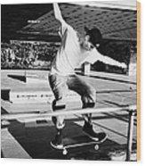 skateboarder at the undercroft skate park of the southbank centre London England UK Wood Print