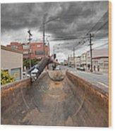Dump Truck Skateboarding In Balboa Street Wood Print