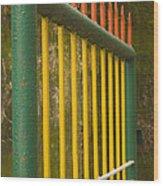 Skc 3266 Colorful Gate Wood Print