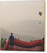 Skc 4630 Flying Festival Wood Print