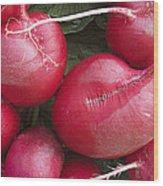 Skc 4682 Red Radish Wood Print